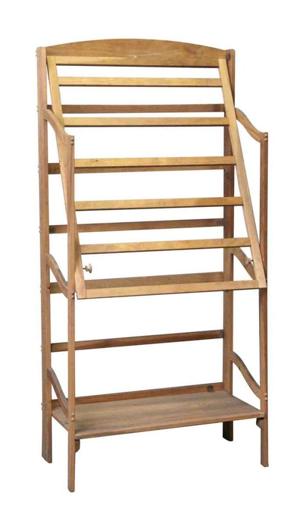 Flea Market - Fold Up Wooden Clothes Drying Rack