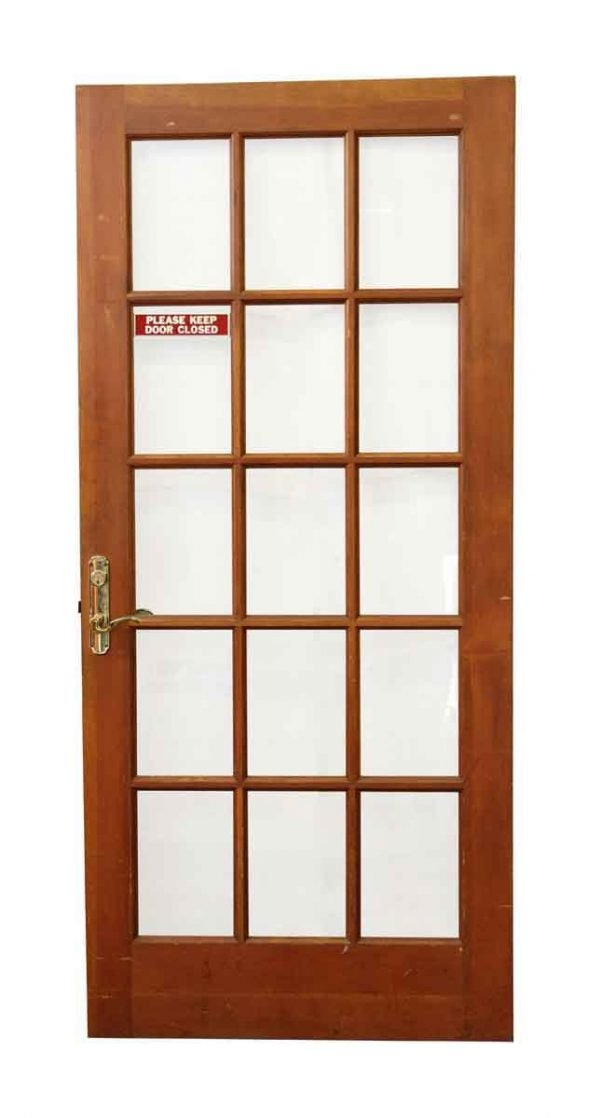 French Doors - 15 Lite Wooden French Door