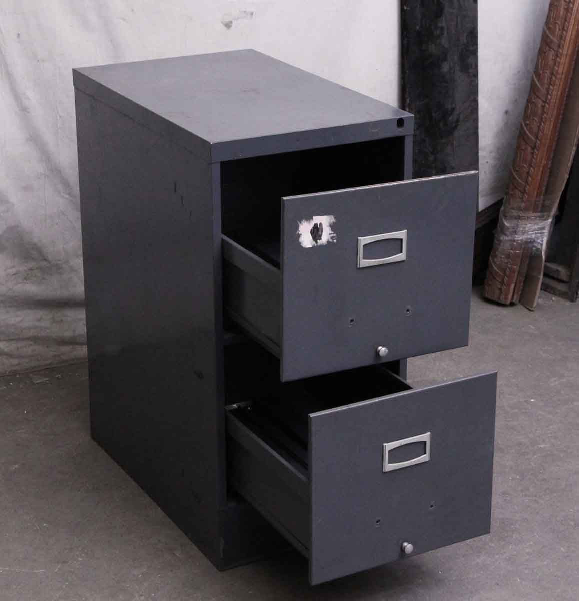 Showroom Furniture For Sale: Salvaged Two Drawer Metal File Cabinet