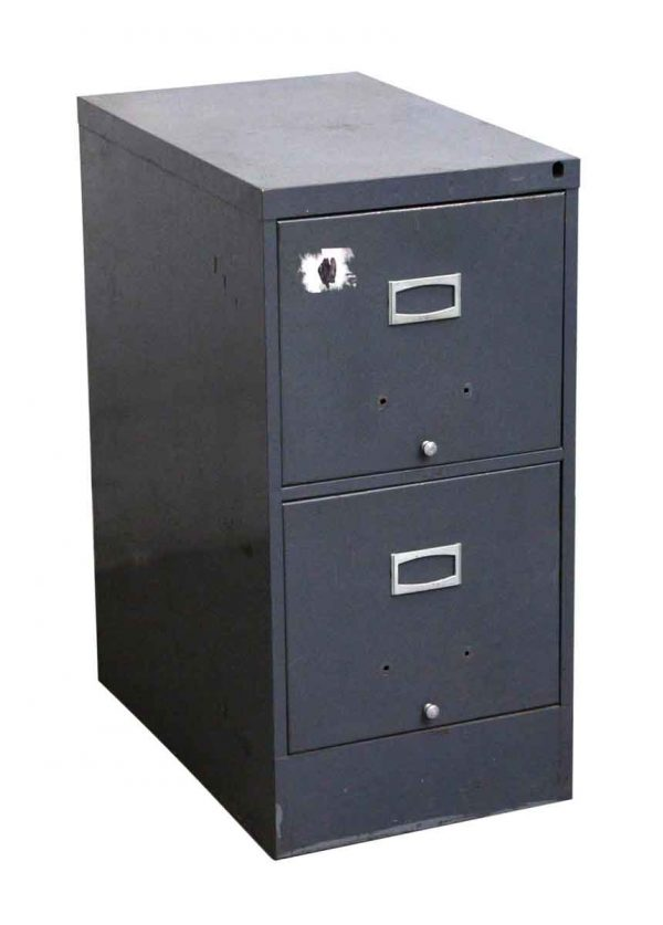 Office Furniture - Salvaged Two Drawer Metal File Cabinet