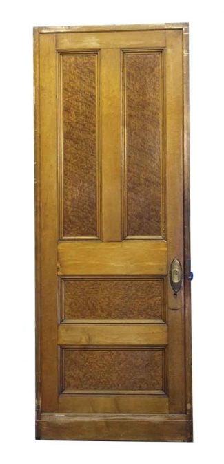 Four Panel Medium U0026 Dark Wood Tone Pocket Door