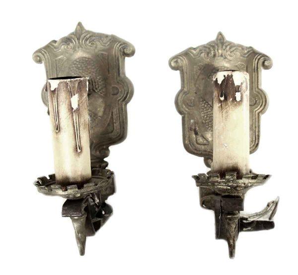 Sconces & Wall Lighting - Antique Cast Iron Arts & Crafts Sconces