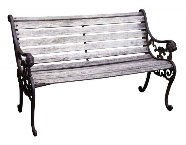 Seating - Weathered Outdoor Garden Bench