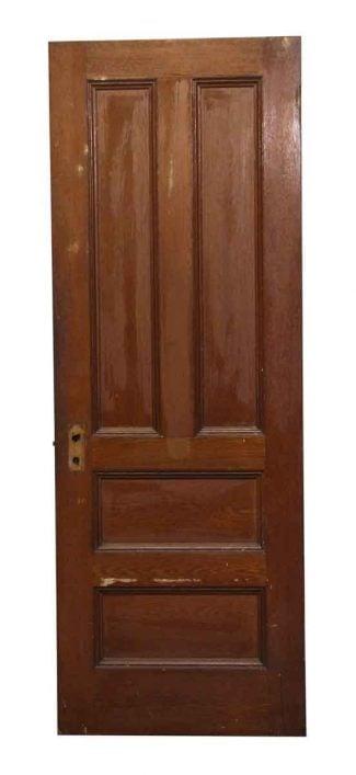 Four Panel Dark Tone Wood Door