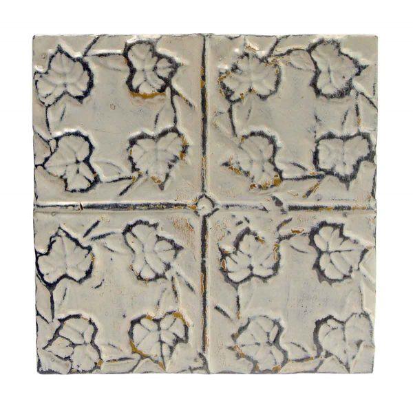 Tin Panels - Antique White 4 Leaf Tin Panel