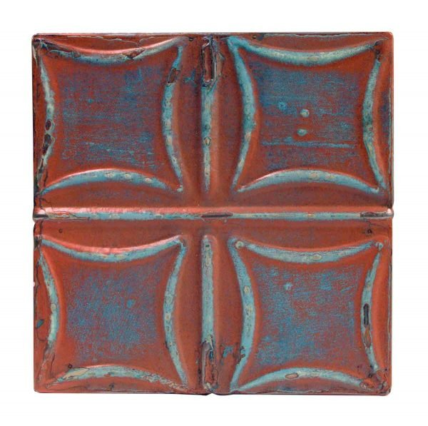 Tin Panels - Pink & Blue Curved Squares Tin Panel