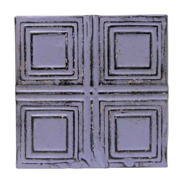 Tin Panels - Purple Squares Antique Tin Panel
