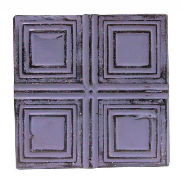 Tin Panels - Purple Squares Tin Panel
