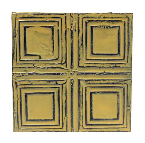 Tin Panels - Yellow Squares Antique Tin Panel