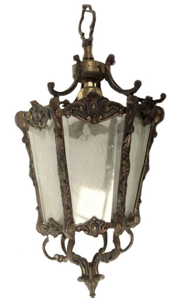 Wall & Ceiling Lanterns - Spanish Style Brass Pendant Lantern