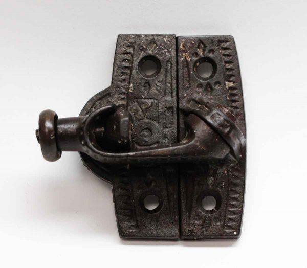 Window Hardware - Antique Black Cast Iron Window Lock