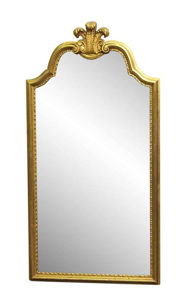 Antique Mirrors - French Style Gilded Gold Wall Mount Mirror