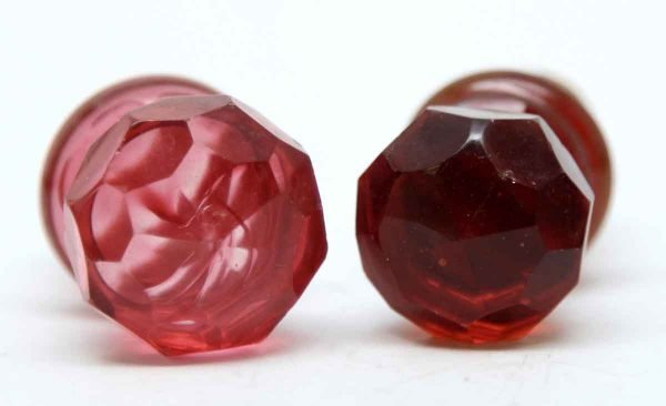 Bottle Stoppers - Rare Red Glass Stoppers