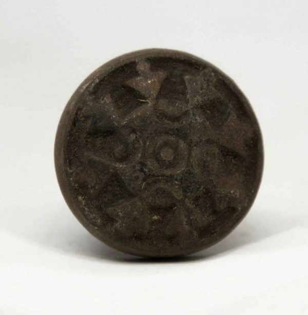 Cabinet & Furniture Knobs - Small Cast Iron Pinwheel Drawer Knob