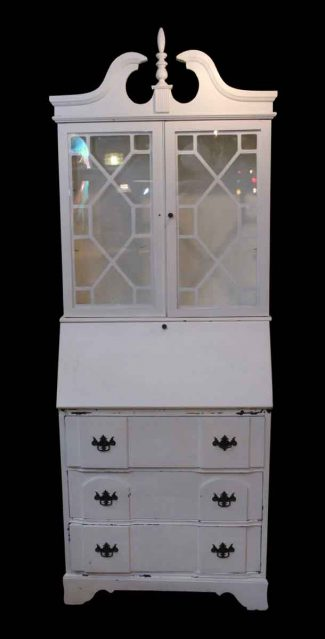 Vintage metal dresser hospital furniture 5 Daksh Vintage White Wooden Curio Cabinet Predatorstate Bedroom Decor Tips Salvaged Office Furniture Olde Good Things