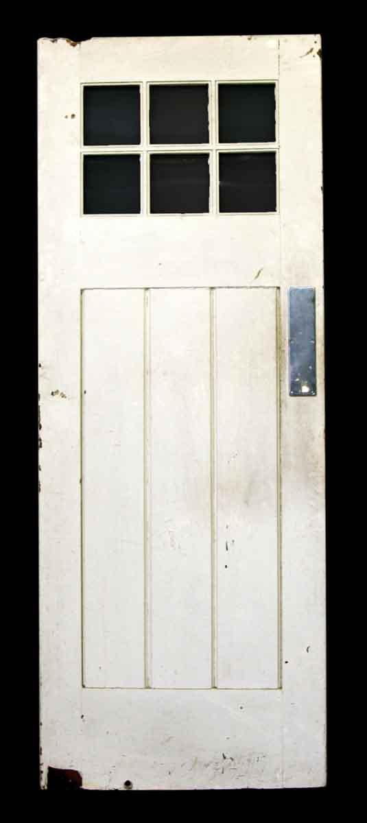 Six Glass Pane Swinging Wood Door Olde Good Things