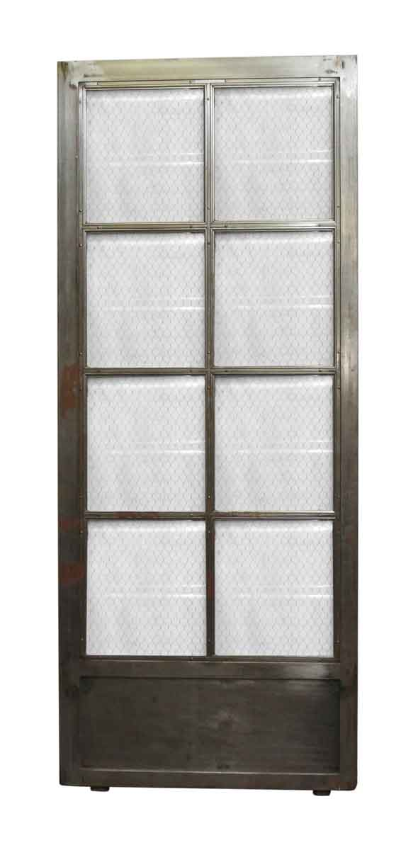Commercial Doors - Steel Chicken Wire Glass 9 Panel Door