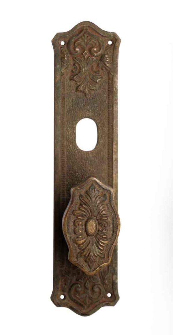 Door Knob Sets - Bronze Door Plate with Single Door Knob