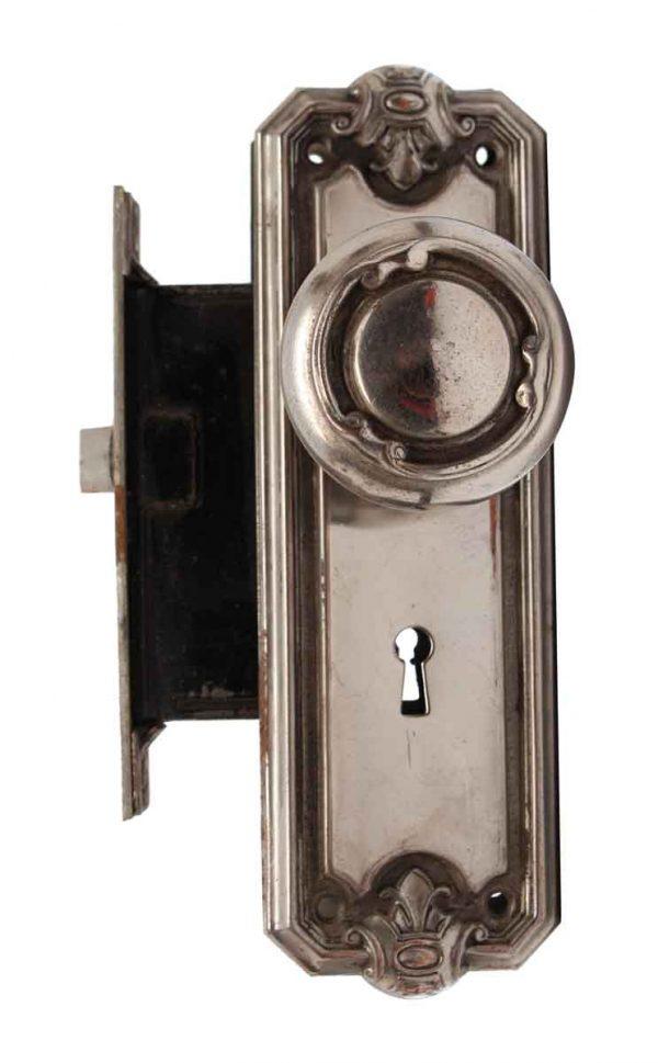 Door Knob Sets - Nickel Over Steel Three Fold Door Knob Set