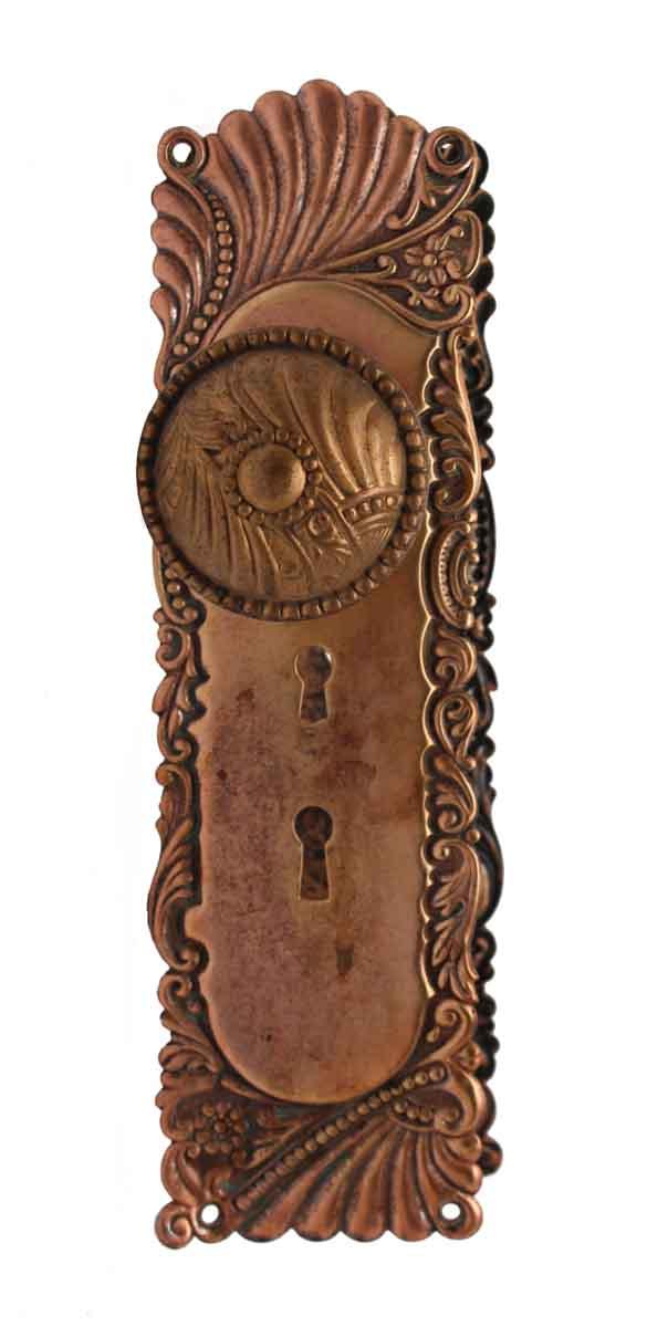 Door Knob Sets - Roanoke Matted & Polished Brass Interior Door Knob Set