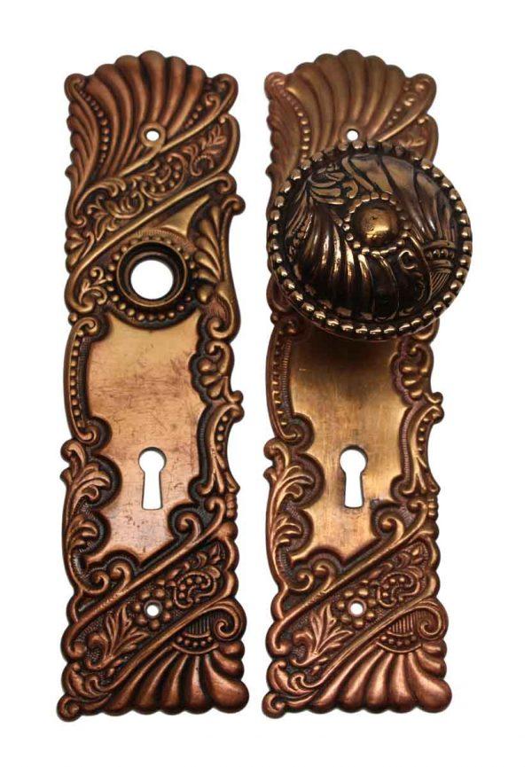 Door Knob Sets - Roanoke Polished Brass Closet Door Knob Set