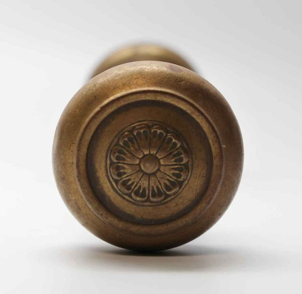 Door Knobs - Brass Radial Floral Door Knob Set