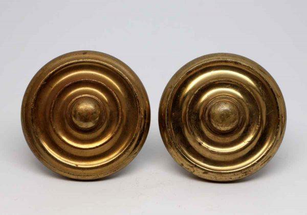 Door Knobs - Cast Brass Concentric Entry Door Knob Set