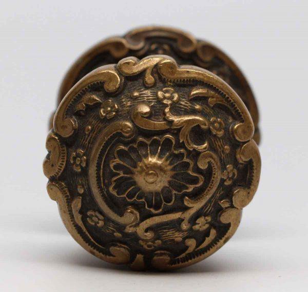Door Knobs - Decorative Cast Brass Door Knob with Matching Rosette