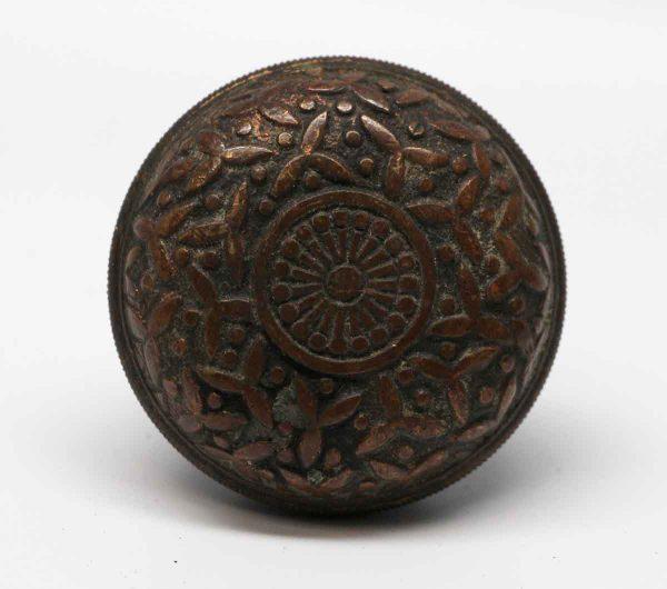 Door Knobs - Yale & Towne Flat Bronze Rice Pattern Door Knob