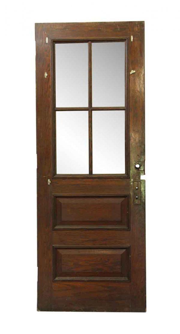 Entry Doors - Six Panel Wood & Glass Entry Door