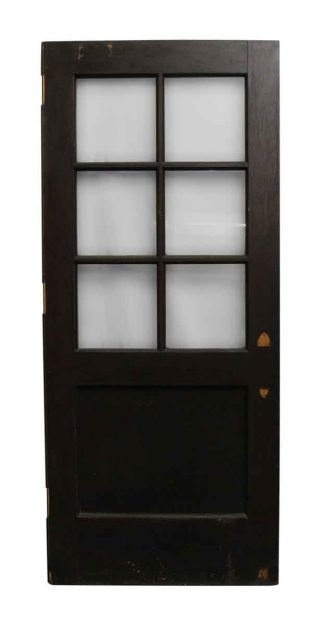 Merveilleux Wooden Entry Door With Seven Panels