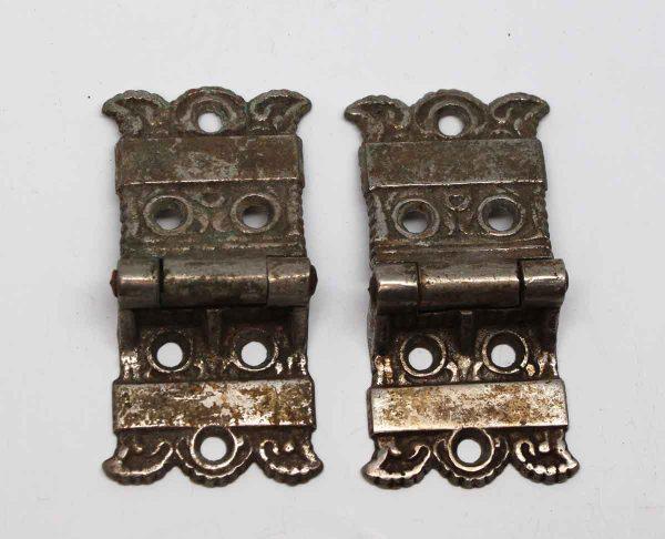 Ice Box Hardware - Bronze Art Nouveau Ice Box Hinges