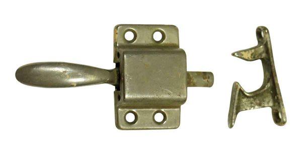 Ice Box Hardware - Vintage Nickel Ice Box Lock
