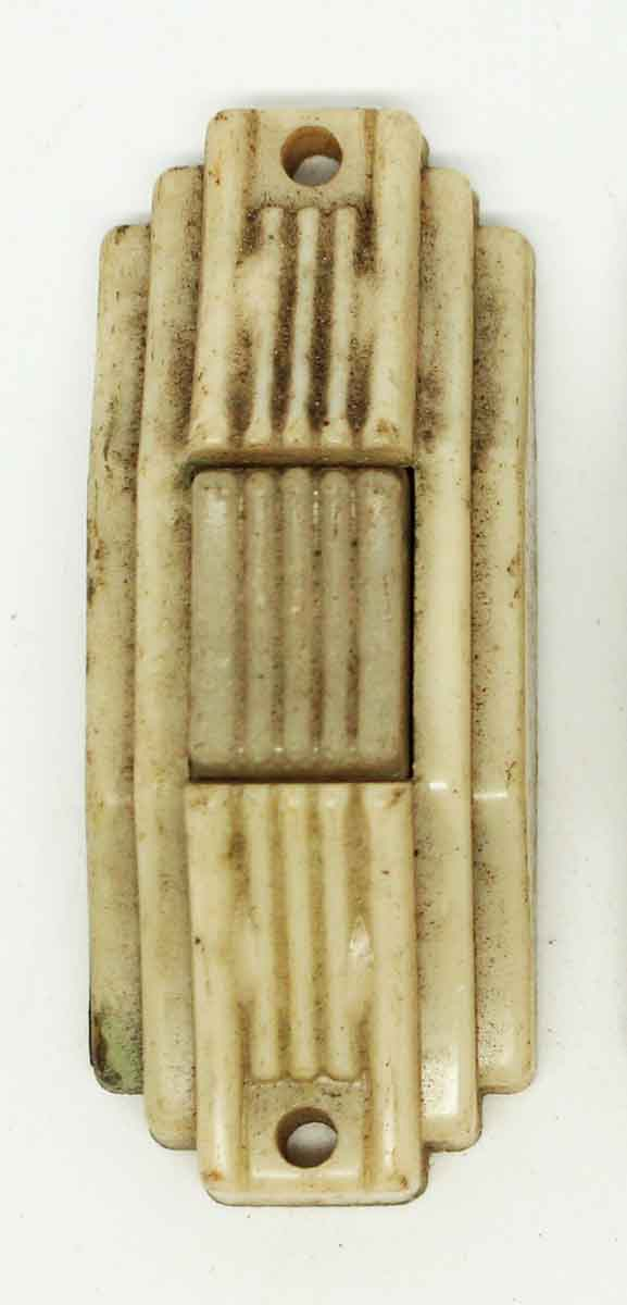 Knockers & Door Bells - Vintage Tan Art Deco Bakelite Doorbell