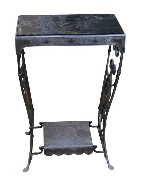 Living Room - Marble Top Wrought Iron Table