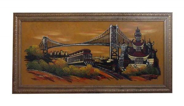 Paintings - Unique Golden Gate Bridge Painting