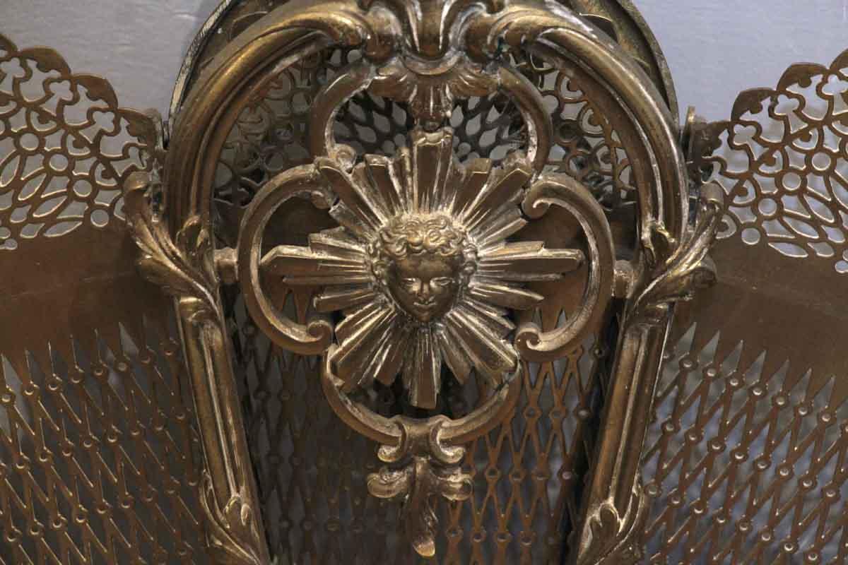 Antique Brass Fan Fireplace Screen Olde Good Things
