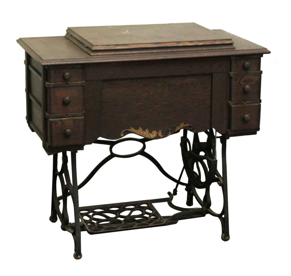 Antique Sewing Machine Table With Cast