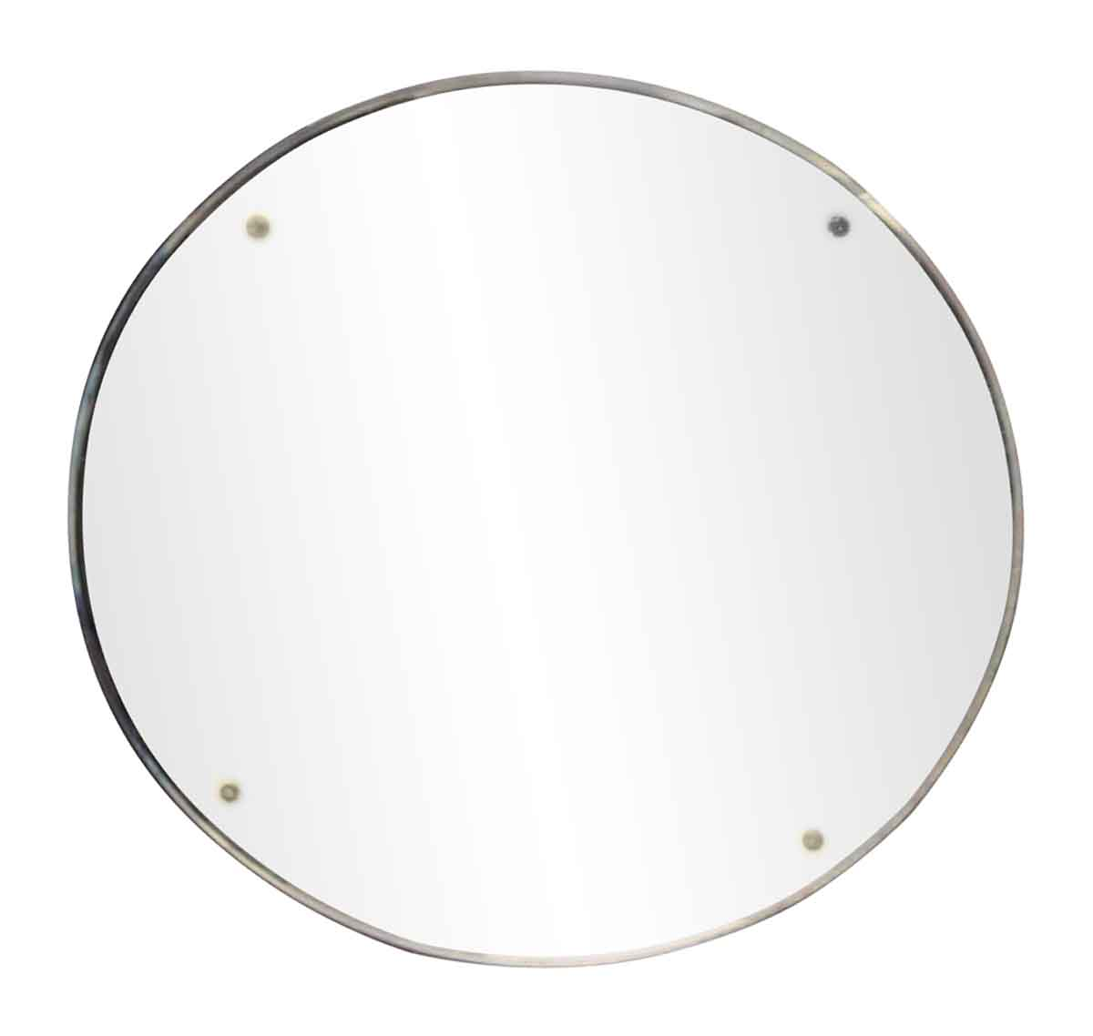 Antique Small Round Wall Mirror