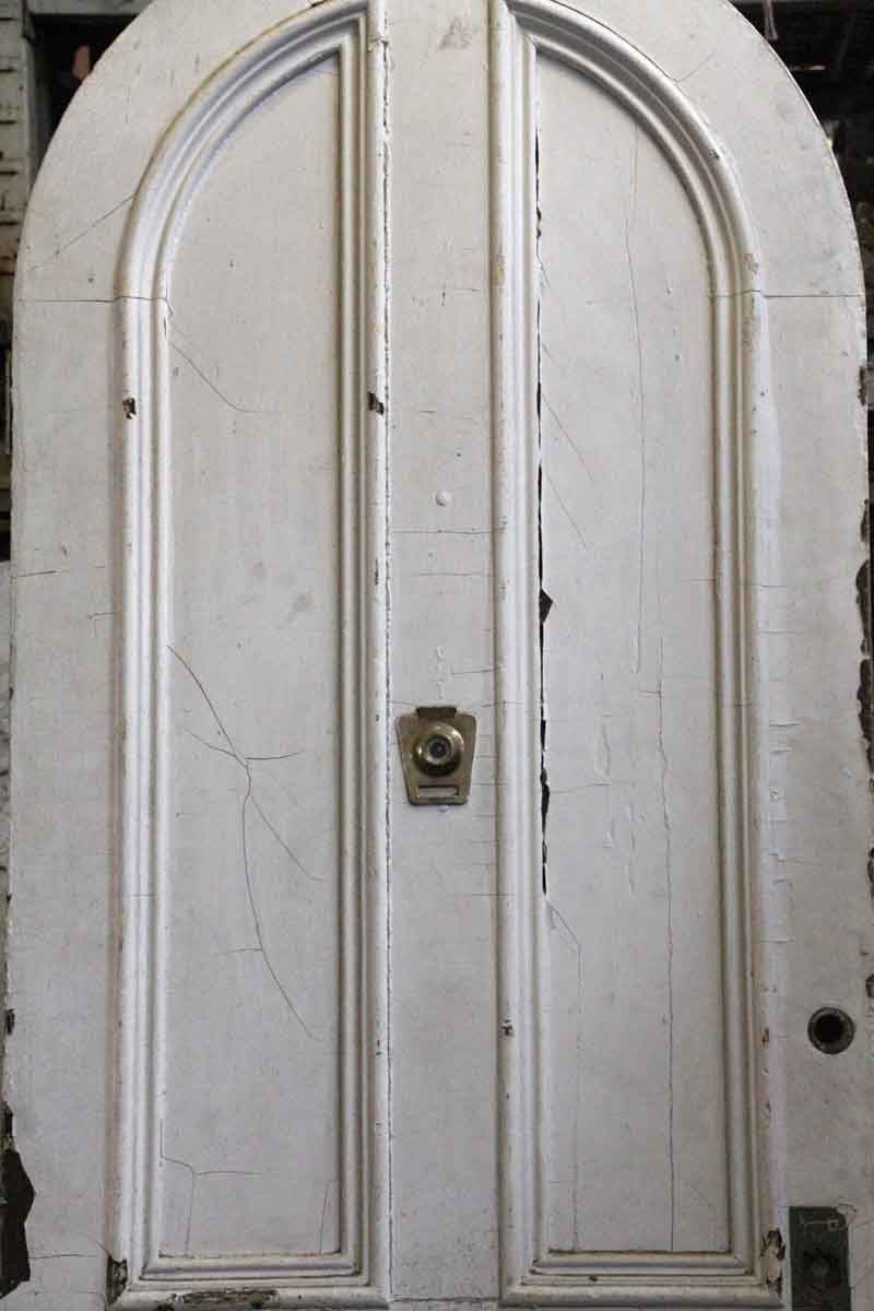 Arched White Wooden Door Olde Good Things