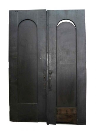Pair Of Metal Doors With Arched Panels