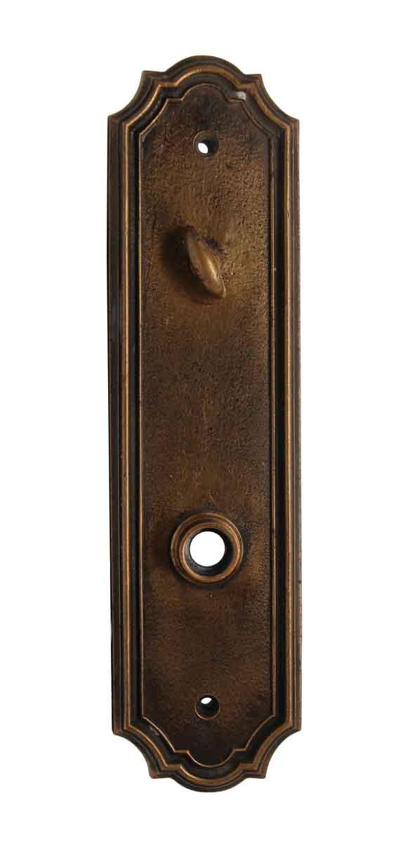 Back Plates - Antique Bronze Deco Entry Door Plate