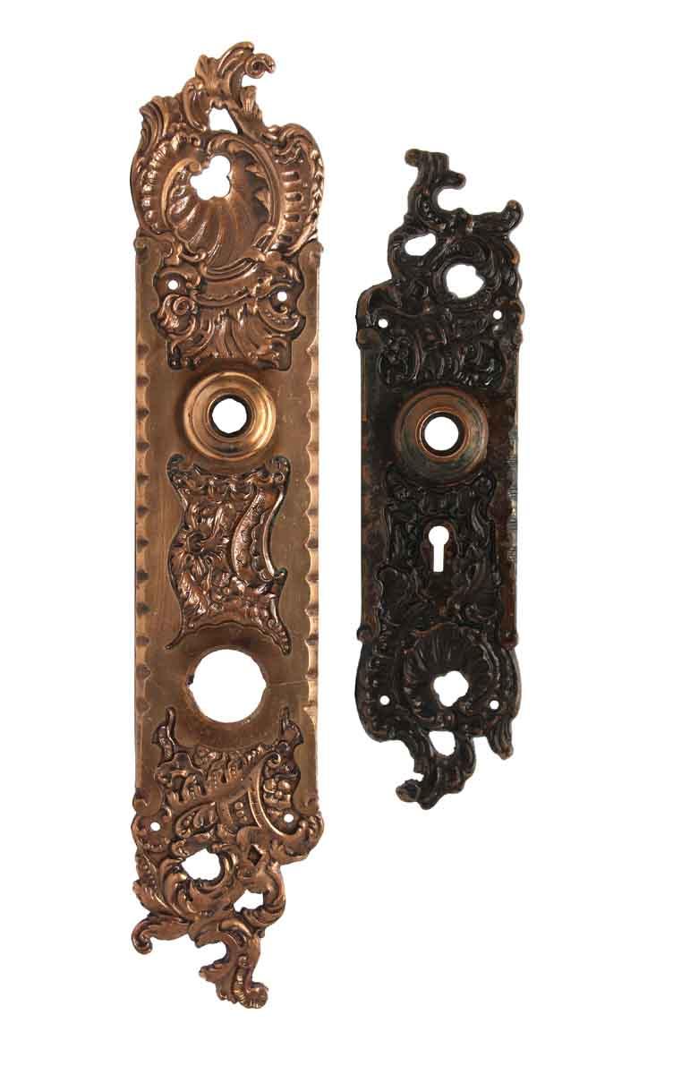 Back Plates - Antique Bronze Reading Belfort Entry Door Plates - Antique Bronze Reading Belfort Entry Door Plates Olde Good Things