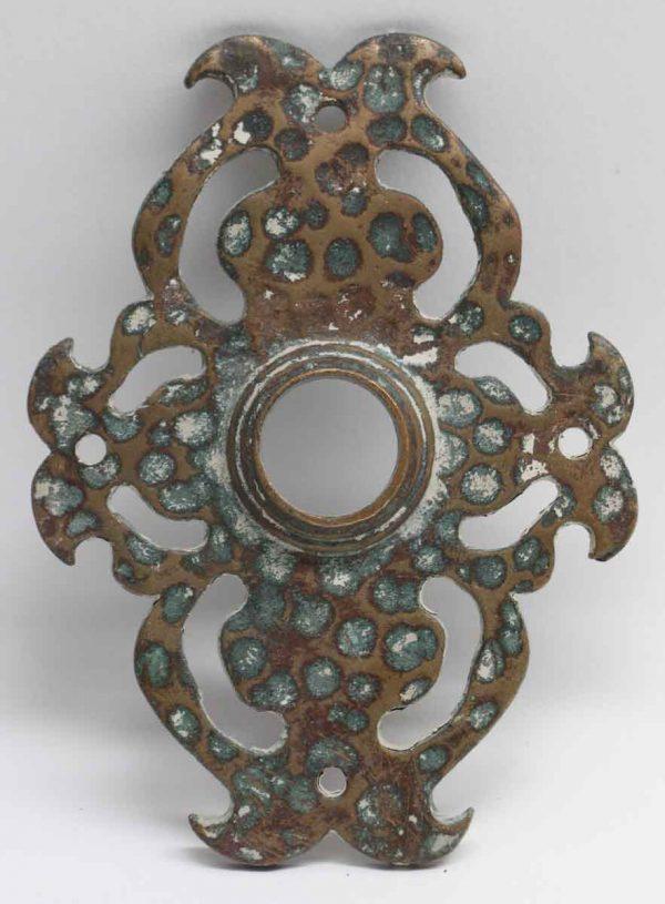 Back Plates - Bronze Hammered Arts & Crafts Back Plate