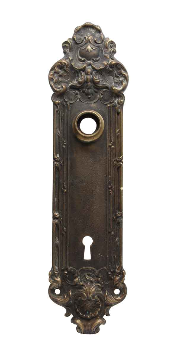 Back Plates - Bronze Rococo Yale Door Back Plate