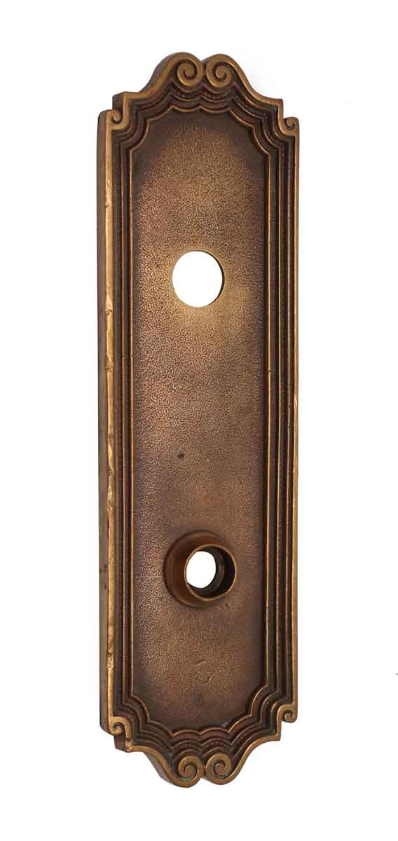 Back Plates - Cast Brass Norwalk Door Plate with Latch Insert