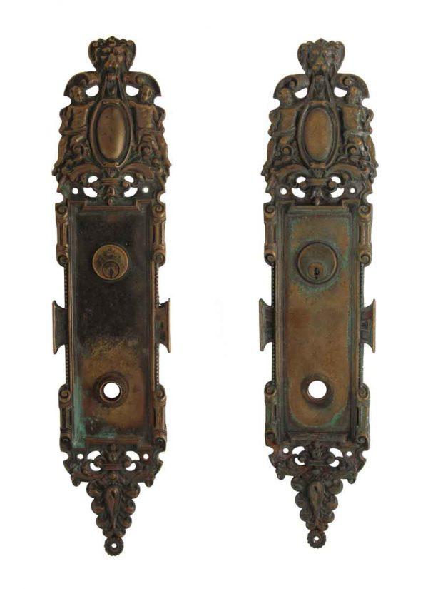 Back Plates - Cast Bronze Ornate French Regency Door Plate