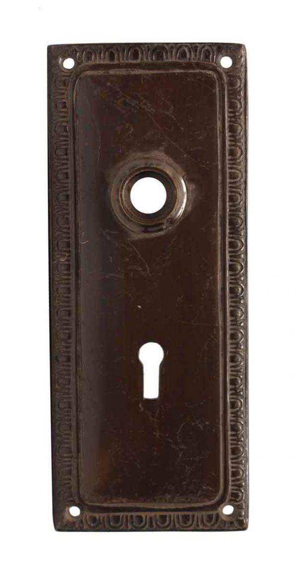 Back Plates - Egg & Dart Bronze Keyhole Back Plate