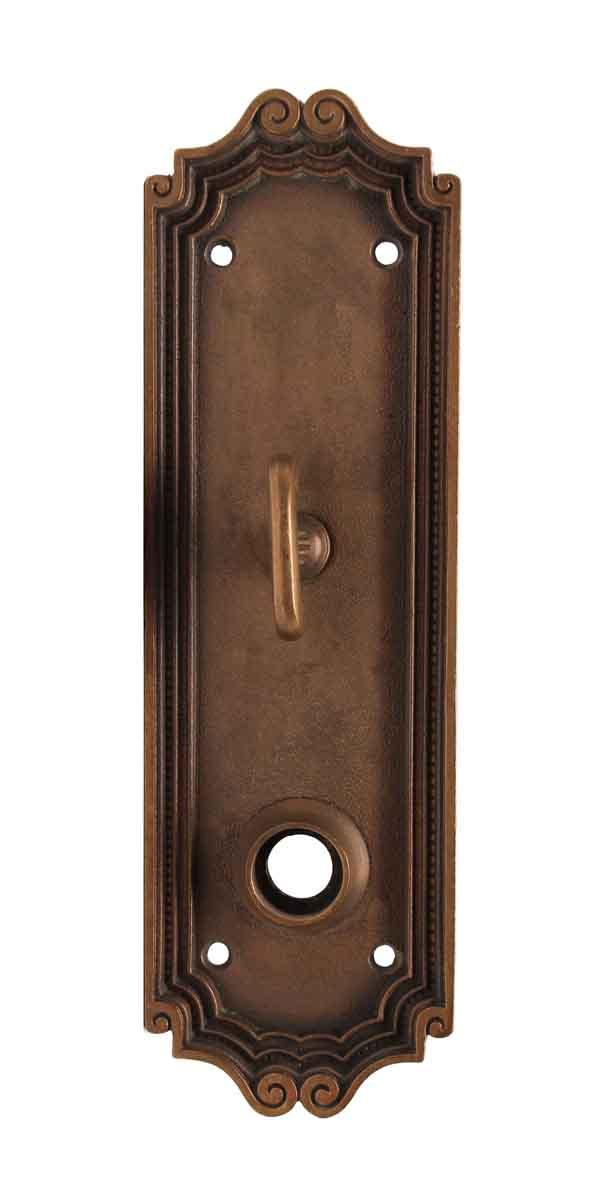 Back Plates - Norwalk Cast Brass Door Plate with Latch