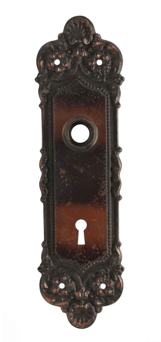 Back Plates - Pair of Cast Iron Keyhole Back Plates